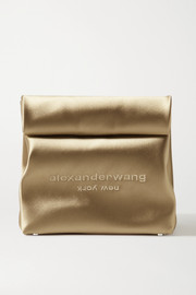 Lunch Bag embroidered satin clutch