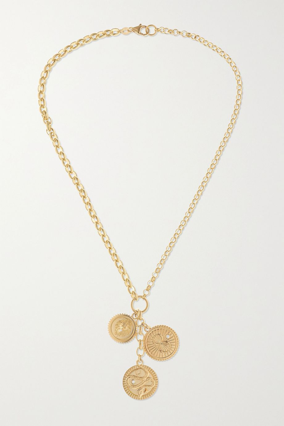 Foundrae Wholeness, Karma and Strength 18-karat gold diamond necklace