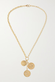 Wholeness, Karma and Strength 18-karat gold diamond necklace
