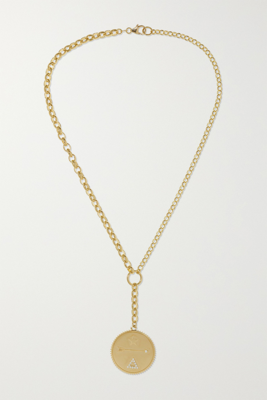 Foundrae Dream 18-karat gold diamond necklace