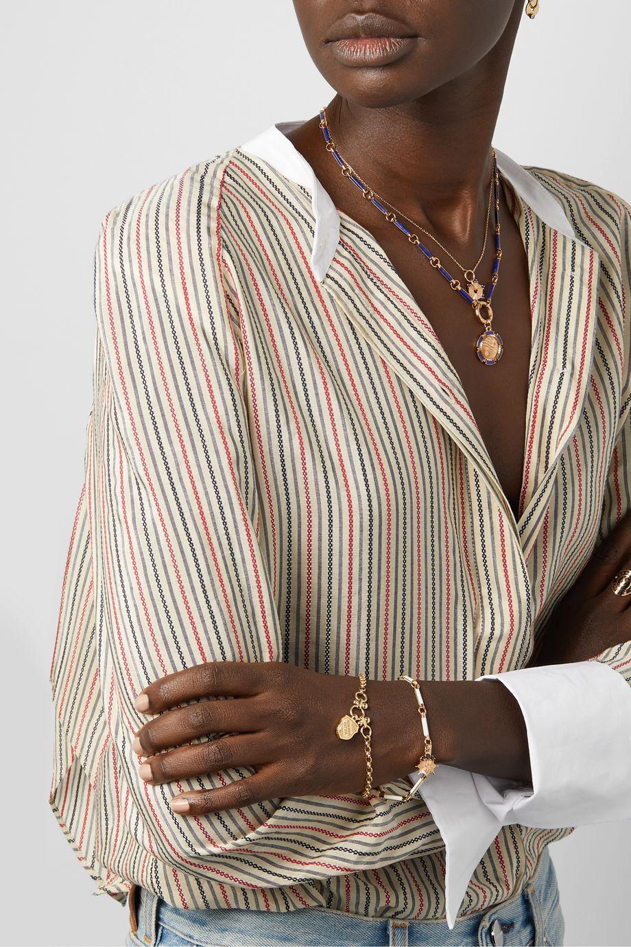 Foundrae Non Invia Est Via 18-karat gold bracelet