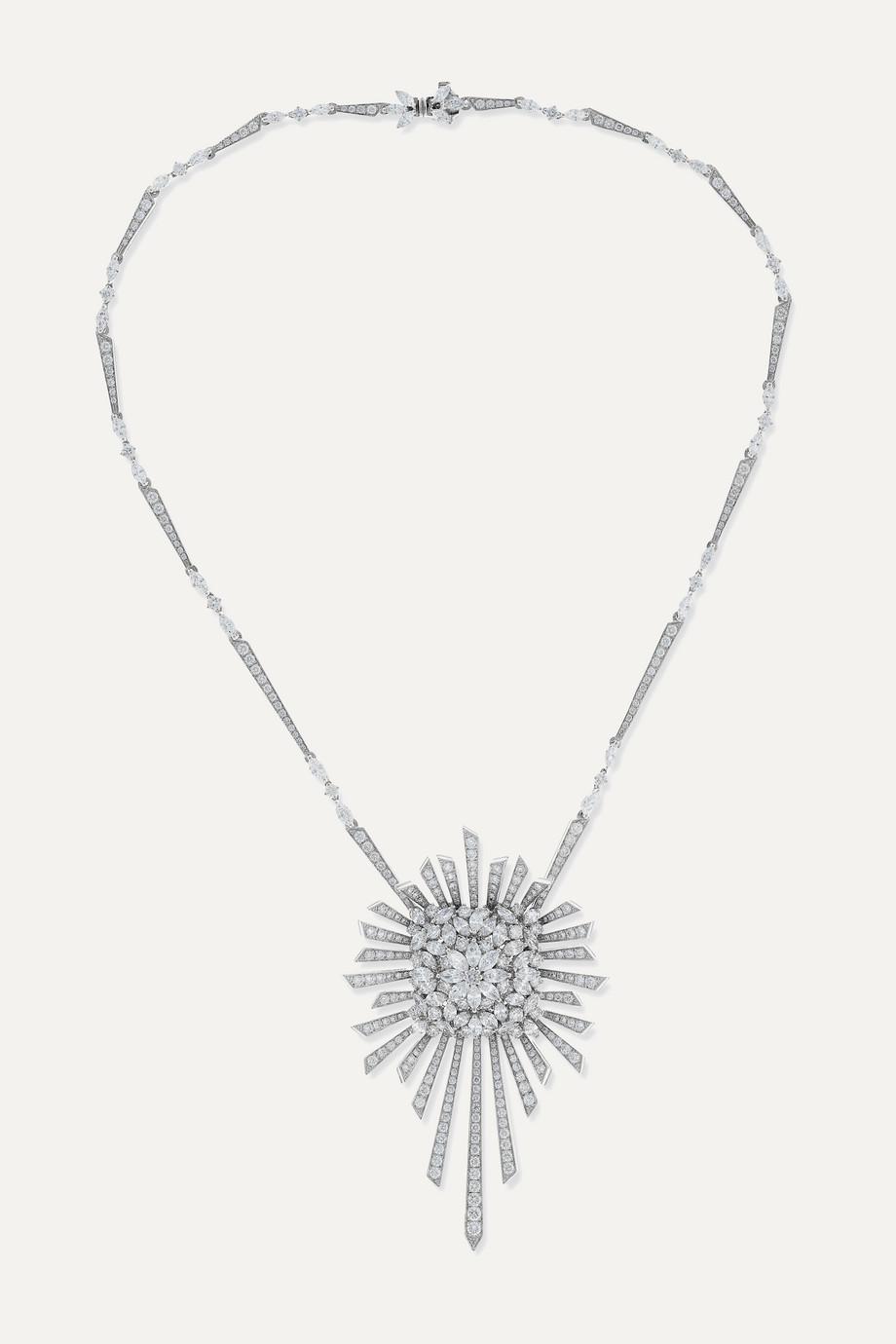 YEPREM Kette aus 18 Karat Weißgold mit Diamanten