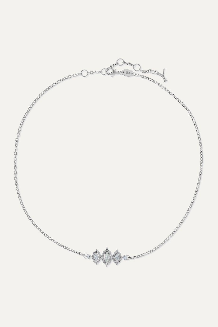 YEPREM Collier en or blanc 18carats et diamants