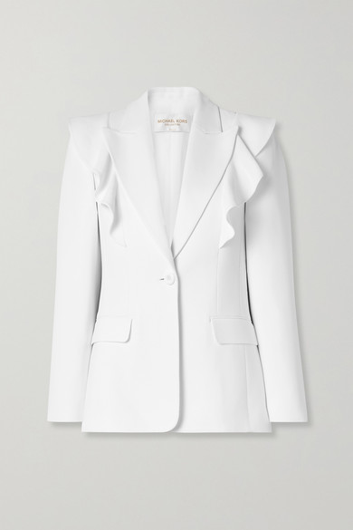 Ruffled Crepe Blazer by Michael Kors Collection