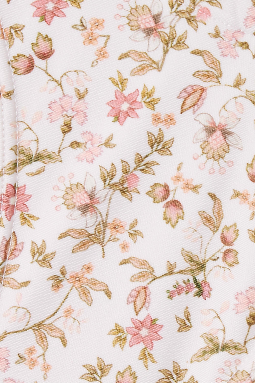 Peony + NET SUSTAIN crochet-trimmed floral-print bikini briefs