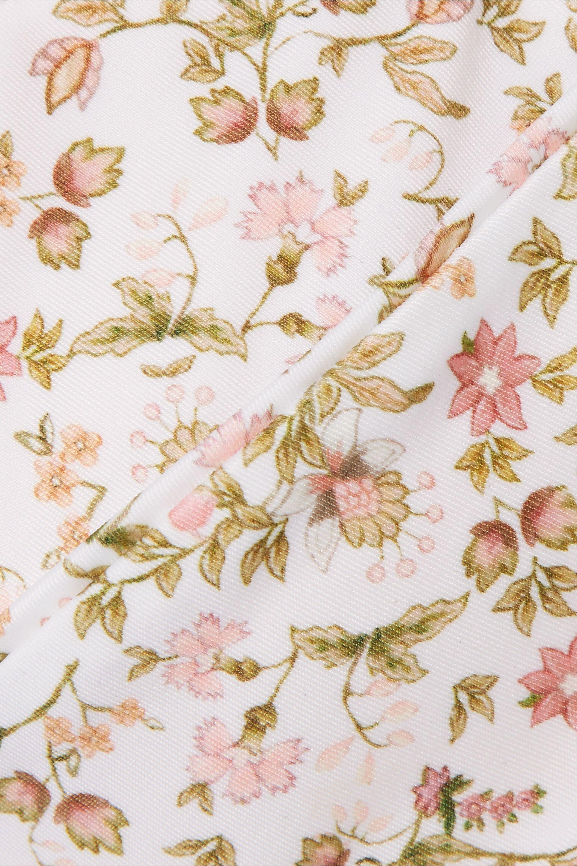 Peony + NET SUSTAIN floral-print bikini top
