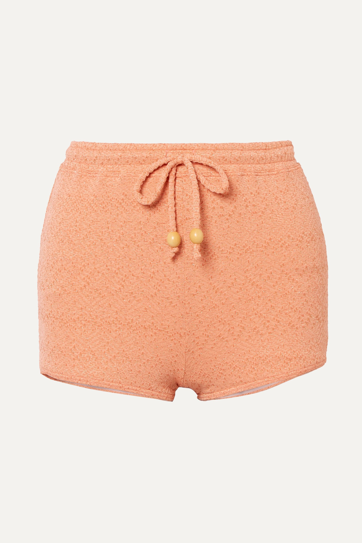 Peony + NET SUSTAIN metallic jacquard bikini briefs