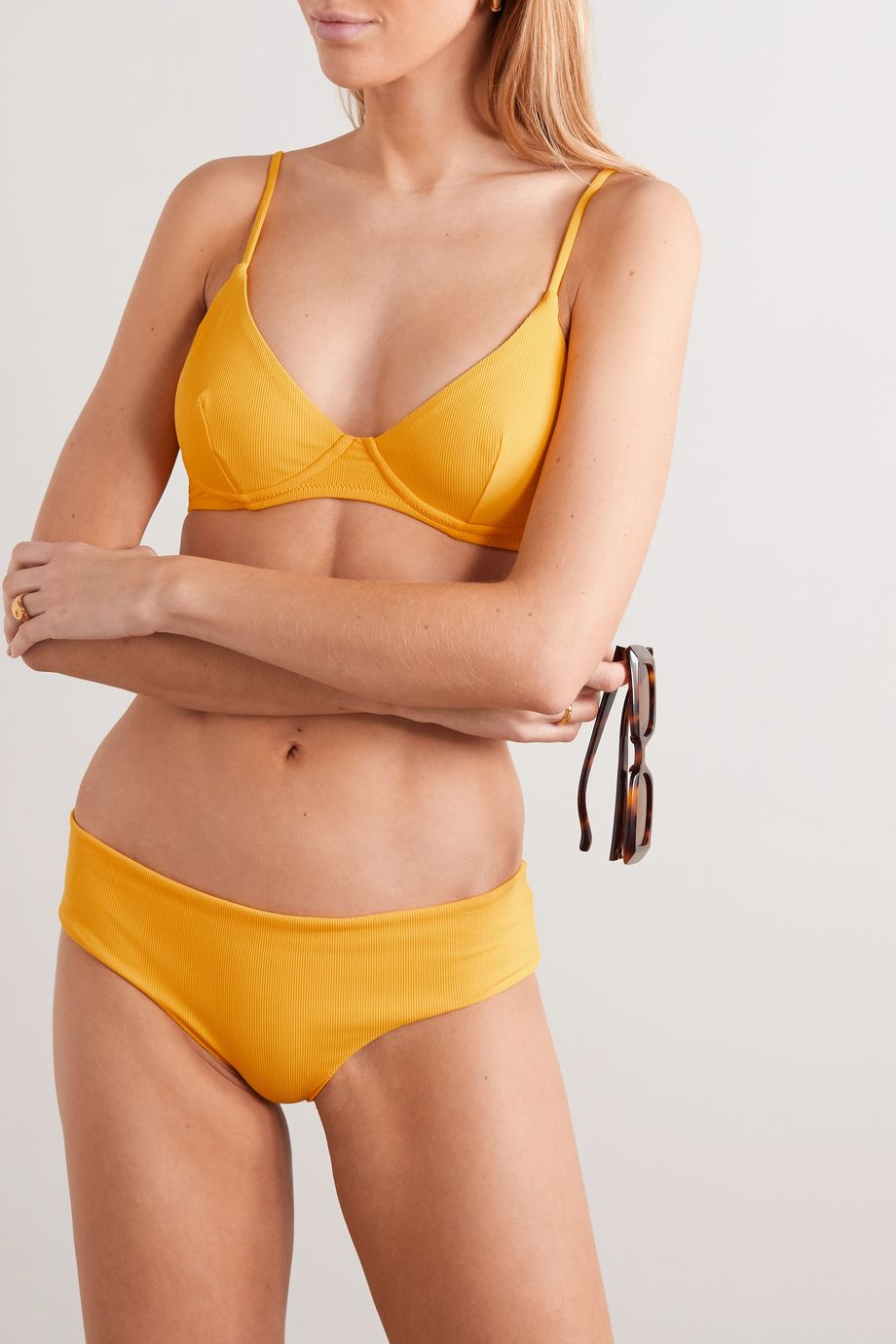 Les Girls Les Boys Ribbed underwired bikini