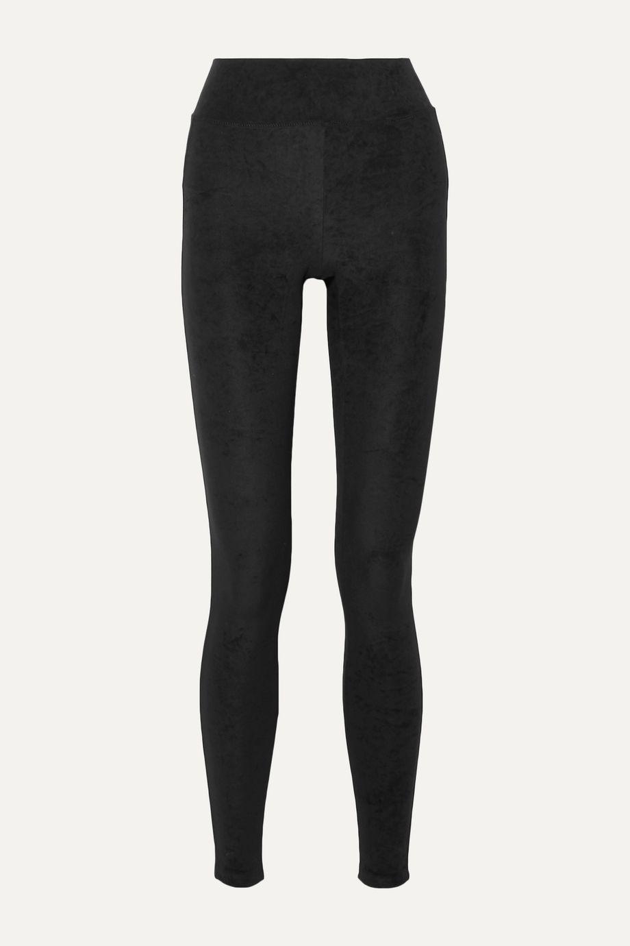 James Perse Stretch-velvet leggings