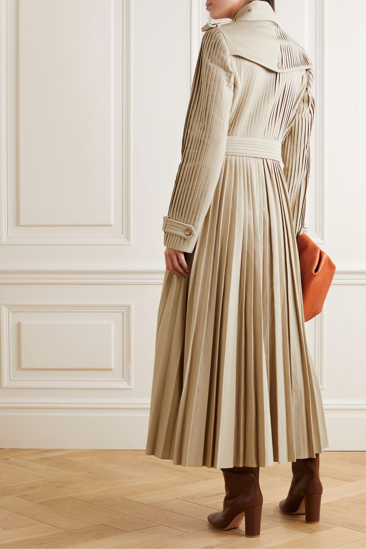 Gabriela Hearst Stein Trenchcoat aus plissierter Baumwollpopeline