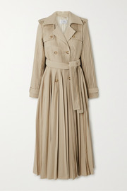 Stein pleated cotton-poplin trench coat