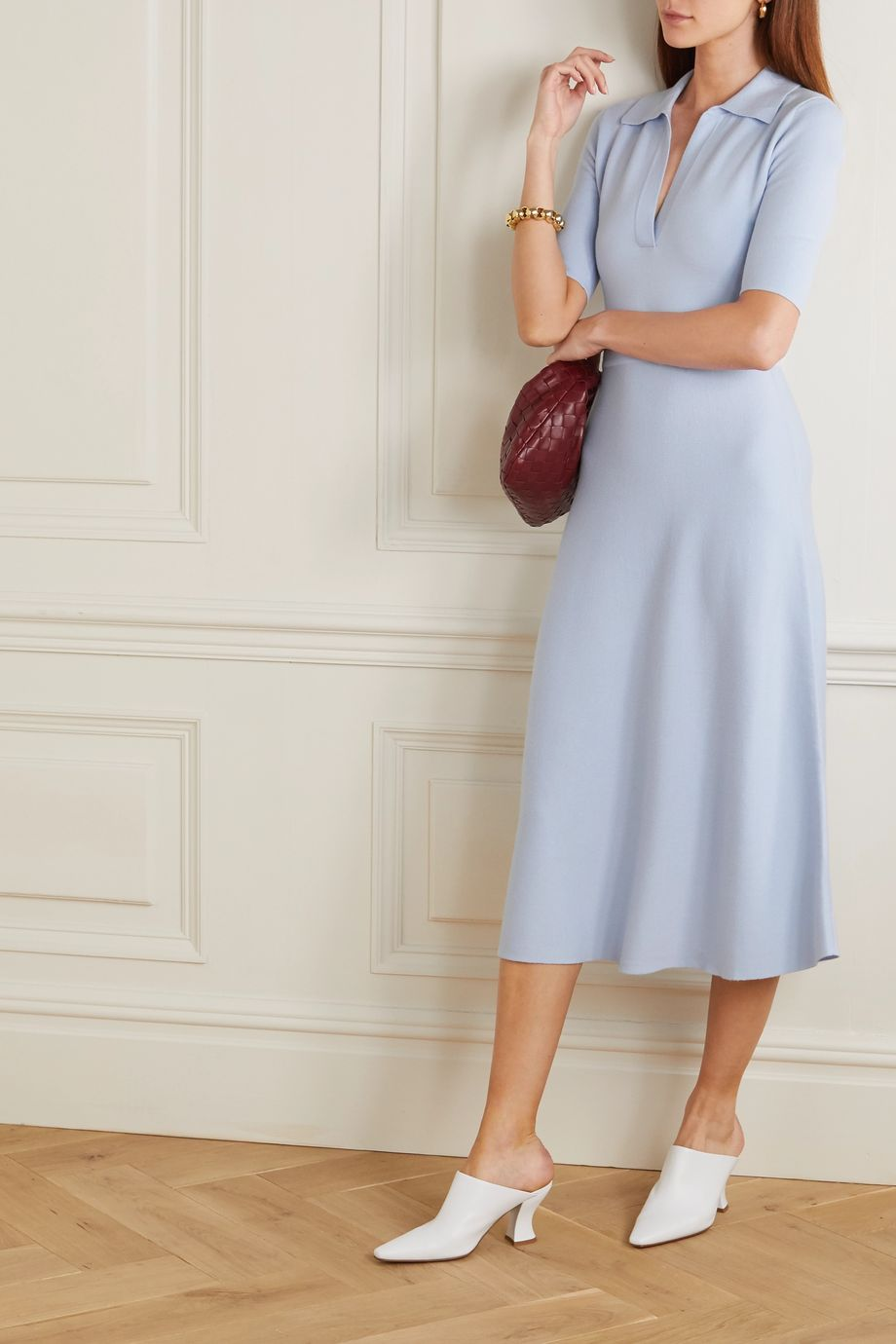 Gabriela Hearst Wool-blend midi dress