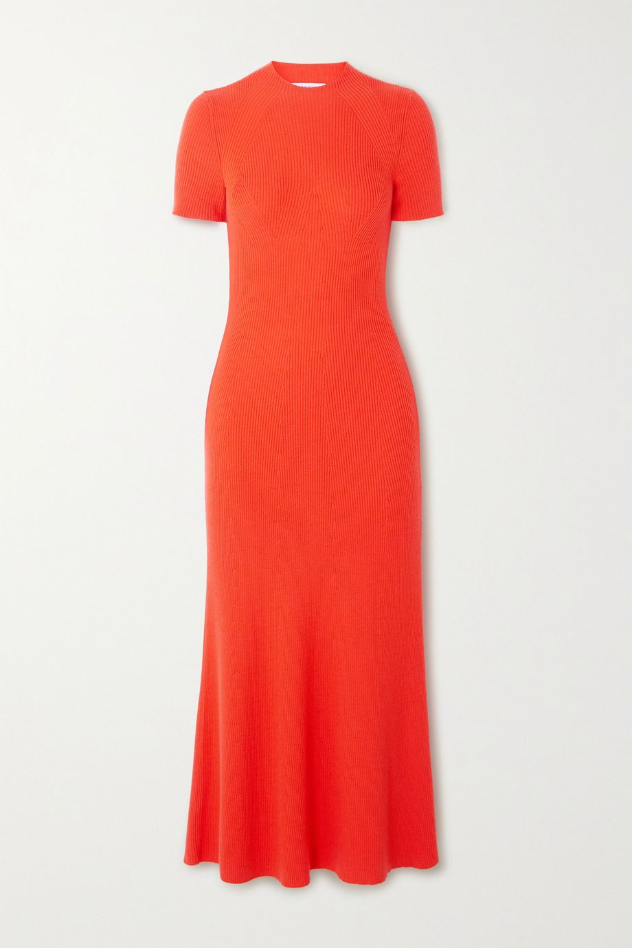 Gabriela Hearst Clare ribbed wool midi dress