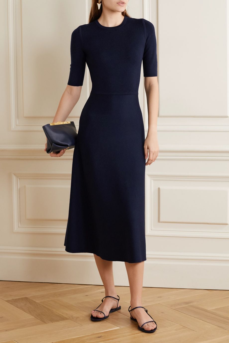 Gabriela Hearst Seymore wool and cashmere-blend midi dress