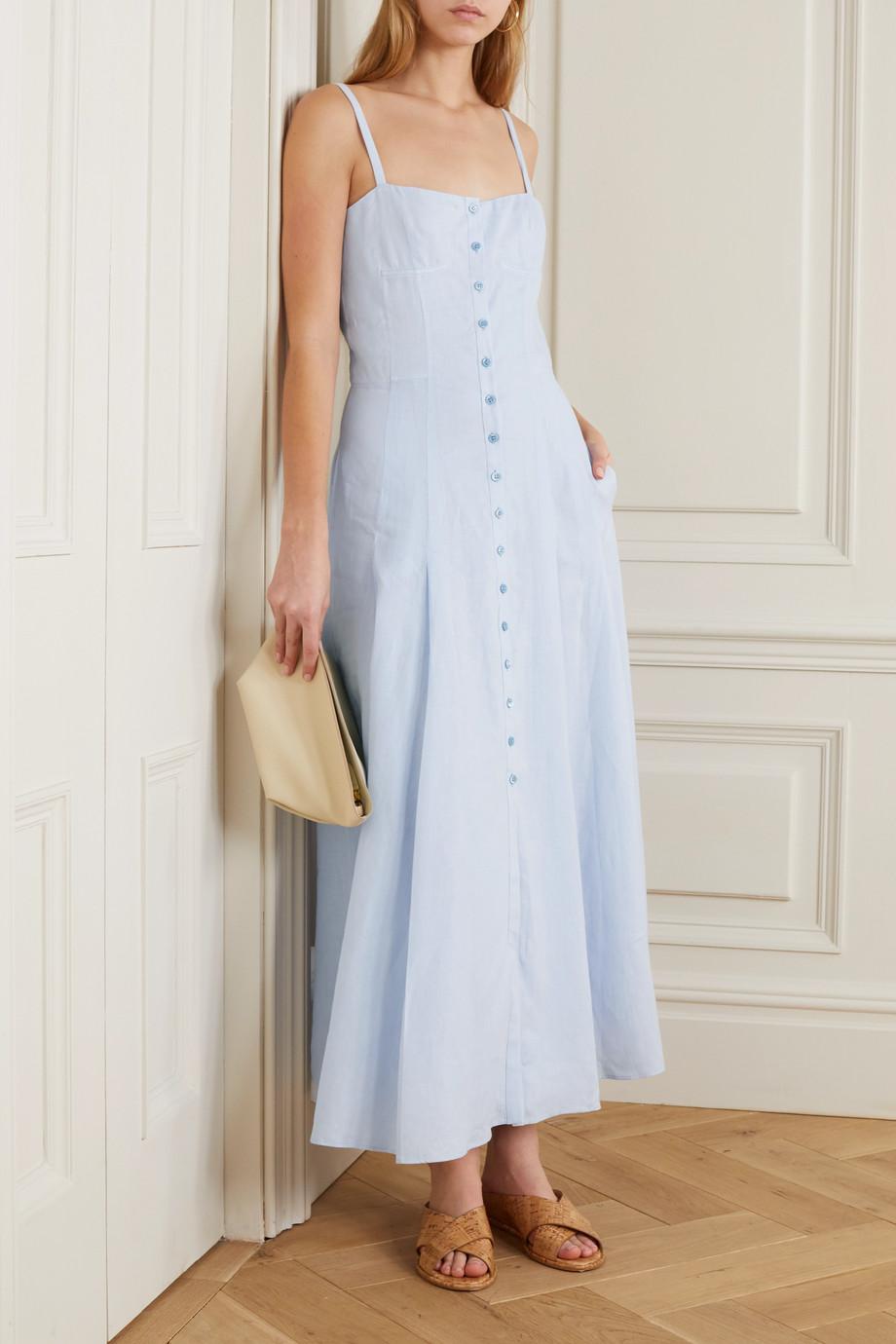 Gabriela Hearst Prudence linen midi dress