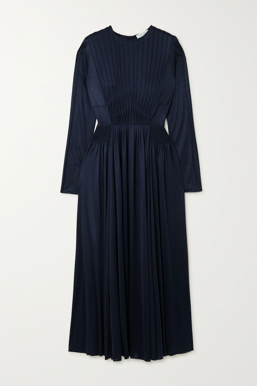 Gabriela Hearst Hermina pleated silk-jersey dress