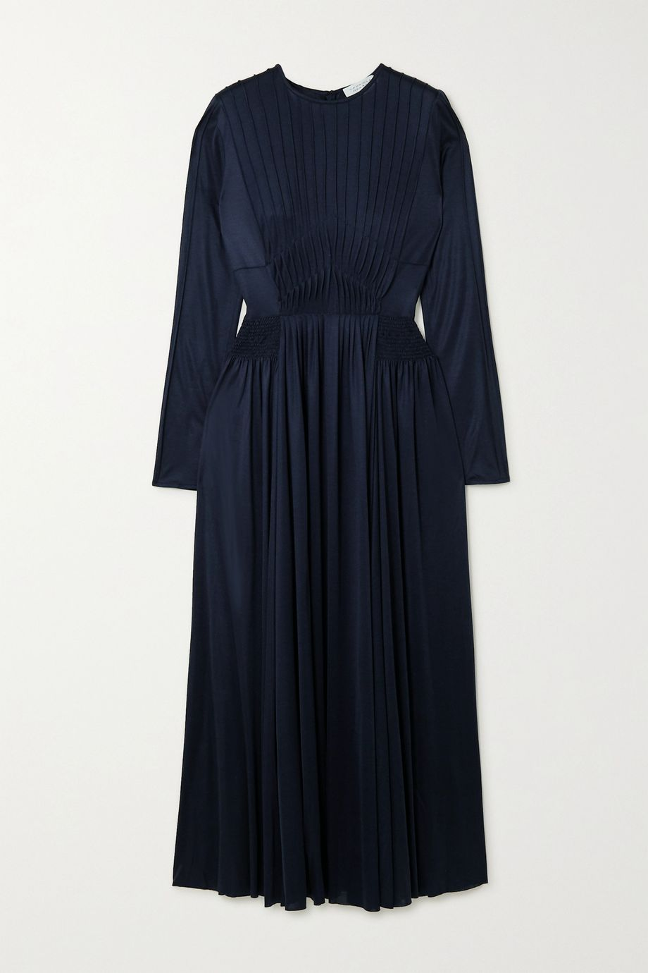 Gabriela Hearst Hermina pleated silk-jersey dress