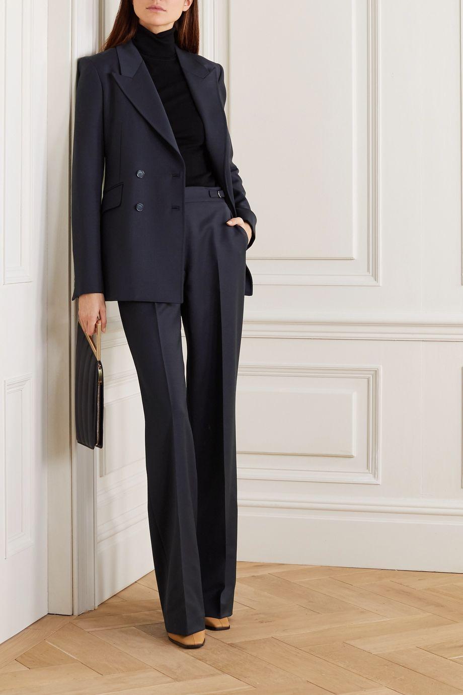 Gabriela Hearst Angela 双排扣羊毛混纺西装外套