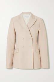 Joaquin double-breasted pintucked wool and silk-blend blazer