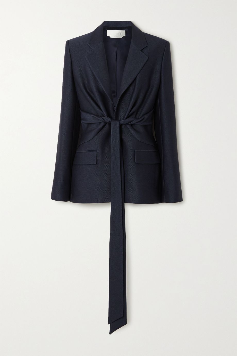 Gabriela Hearst Grant tie-front wool and silk-blend blazer