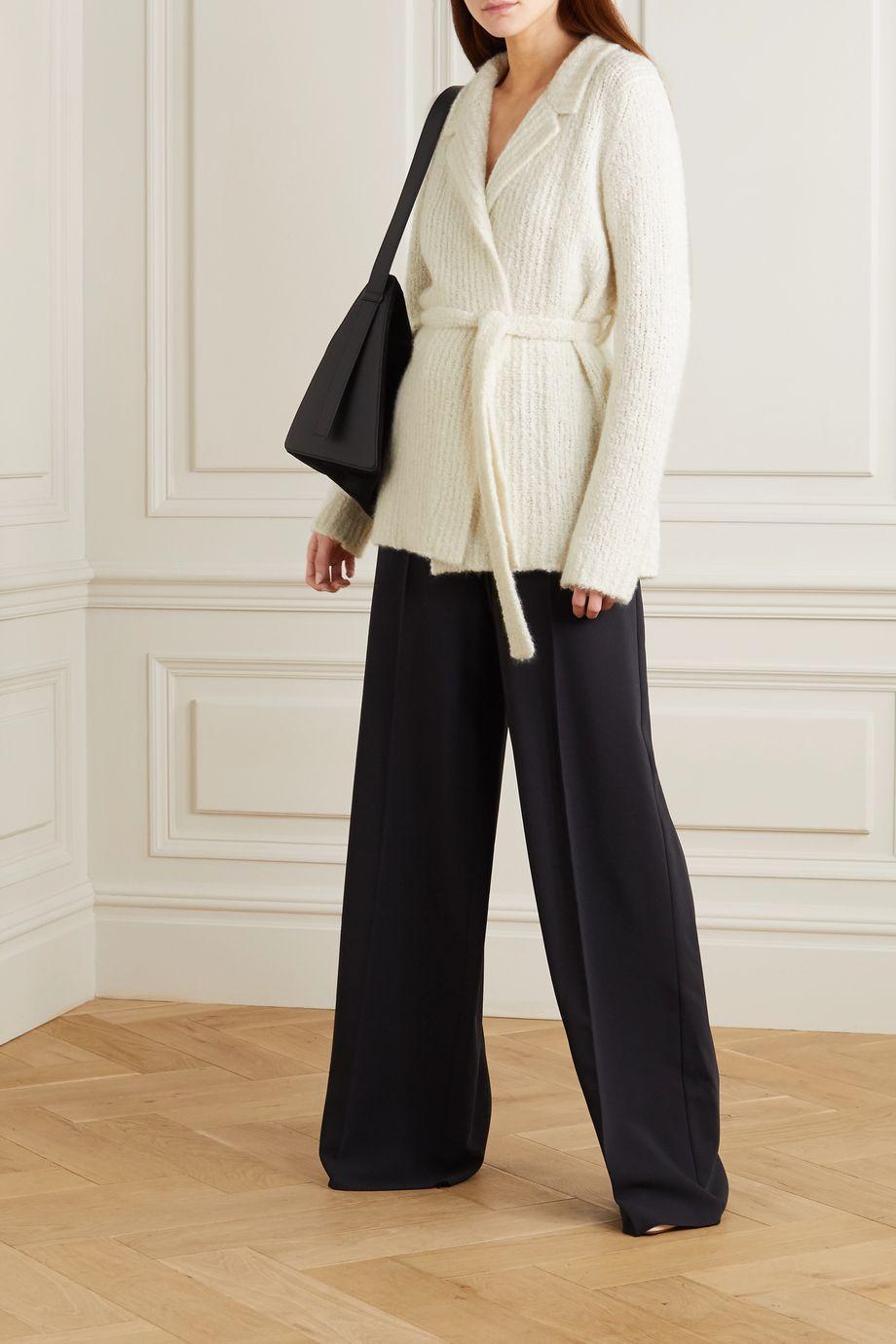 Gabriela Hearst Coles belted cashmere and silk-blend bouclé blazer
