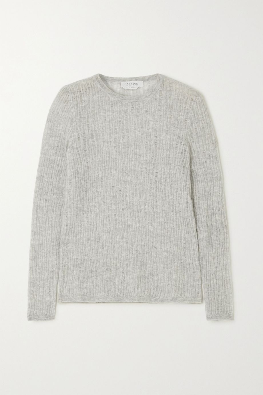 Gabriela Hearst Carey open-knit cashmere and silk-blend sweater