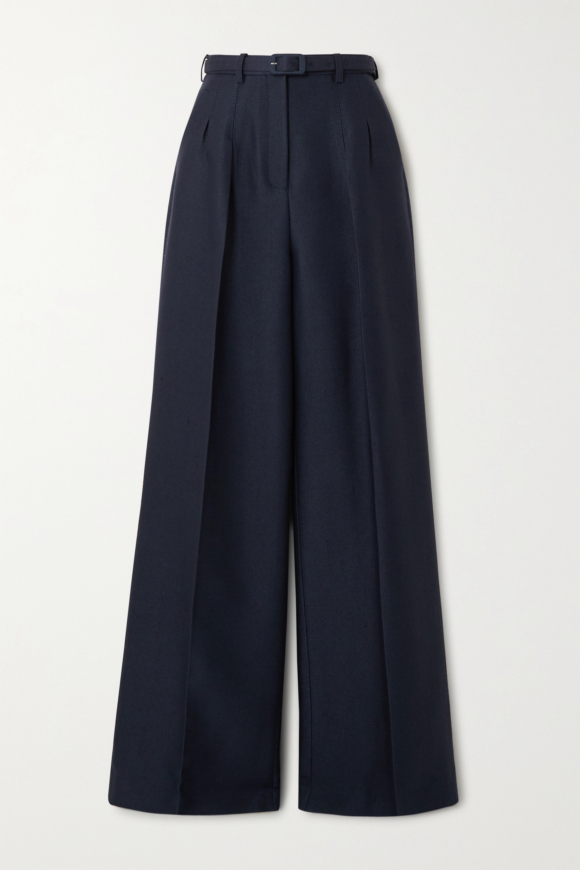 Gabriela Hearst Vargas belted wool and silk-blend wide-leg pants
