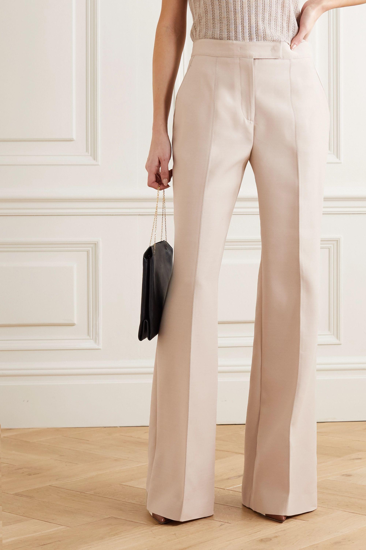 Gabriela Hearst Pantalon large en laine et soie mélangées Leda