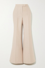 Leda wool and silk-blend wide-leg pants