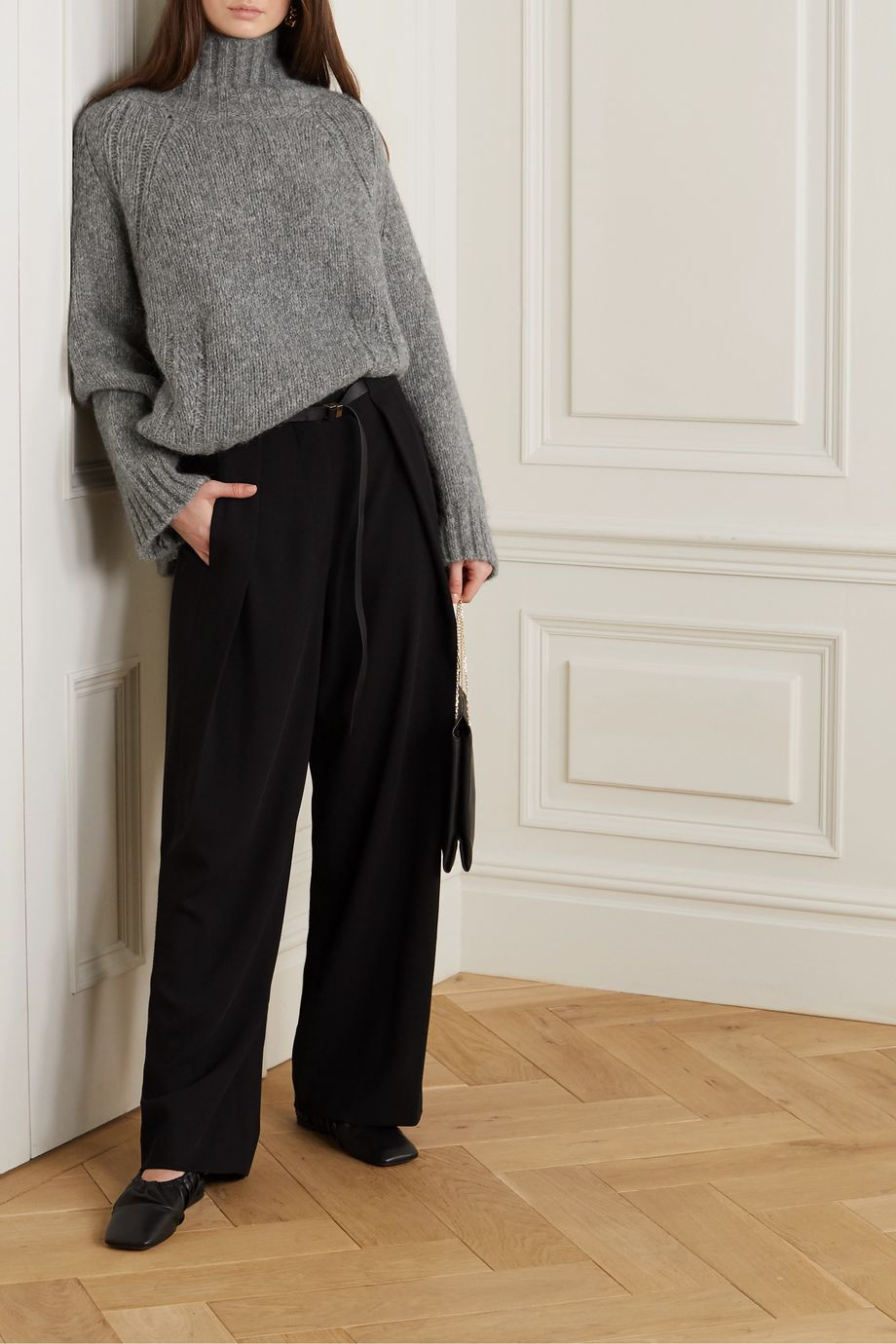 By Malene Birger + NET SUSTAIN Aleya oversized alpaca-blend turtleneck sweater