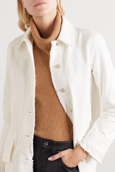 + NET SUSTAIN Magdelena frayed organic denim coat
