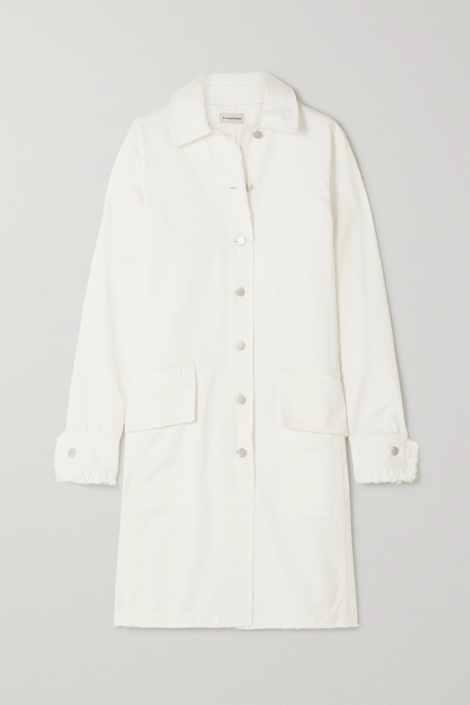 By Malene Birger + NET SUSTAIN Magdelena frayed organic denim coat