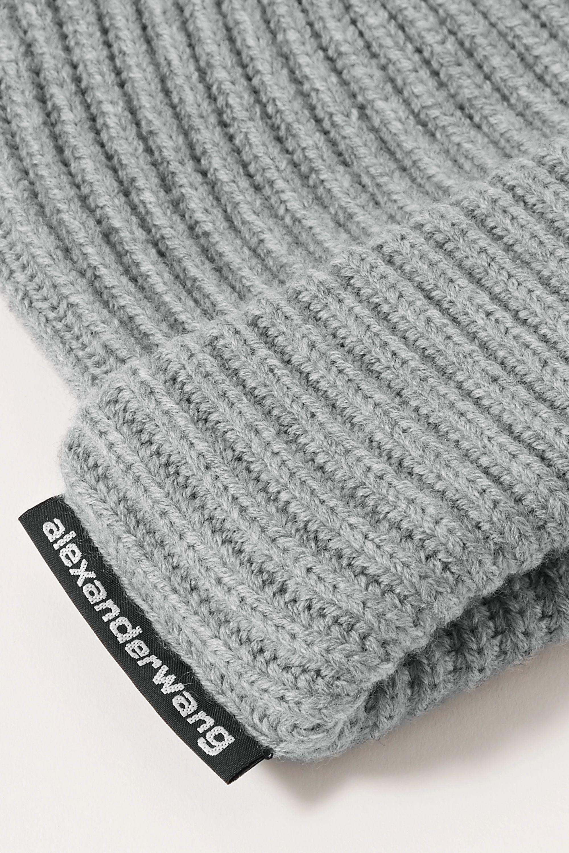 Alexander Wang Ribbed merino wool beanie