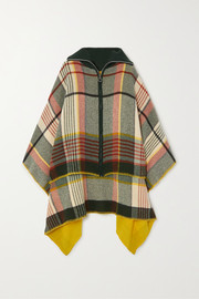 Holzweiler + NET SUSTAIN checked wool and cashmere-blend poncho