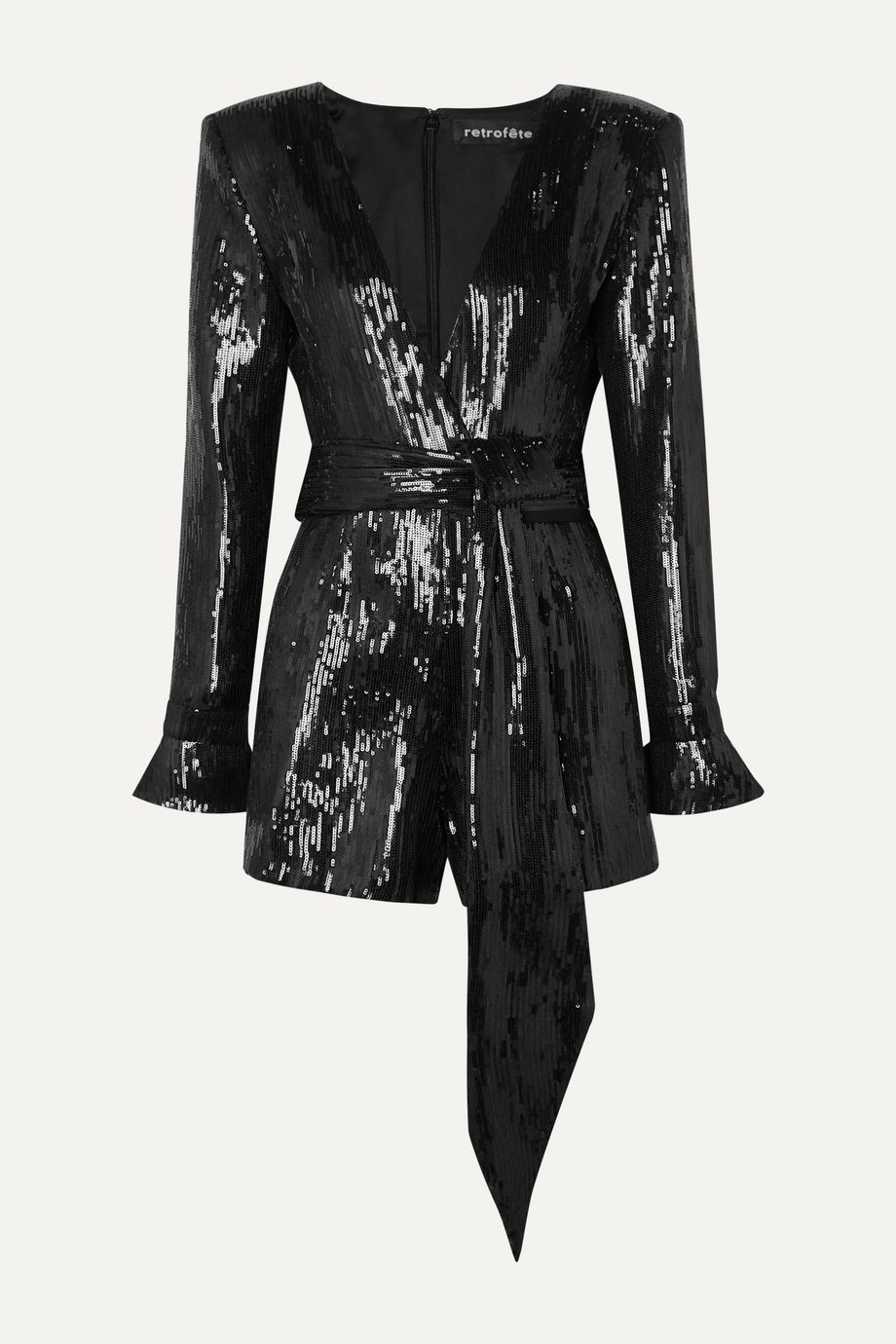 Retrofête Katherine sequined chiffon playsuit