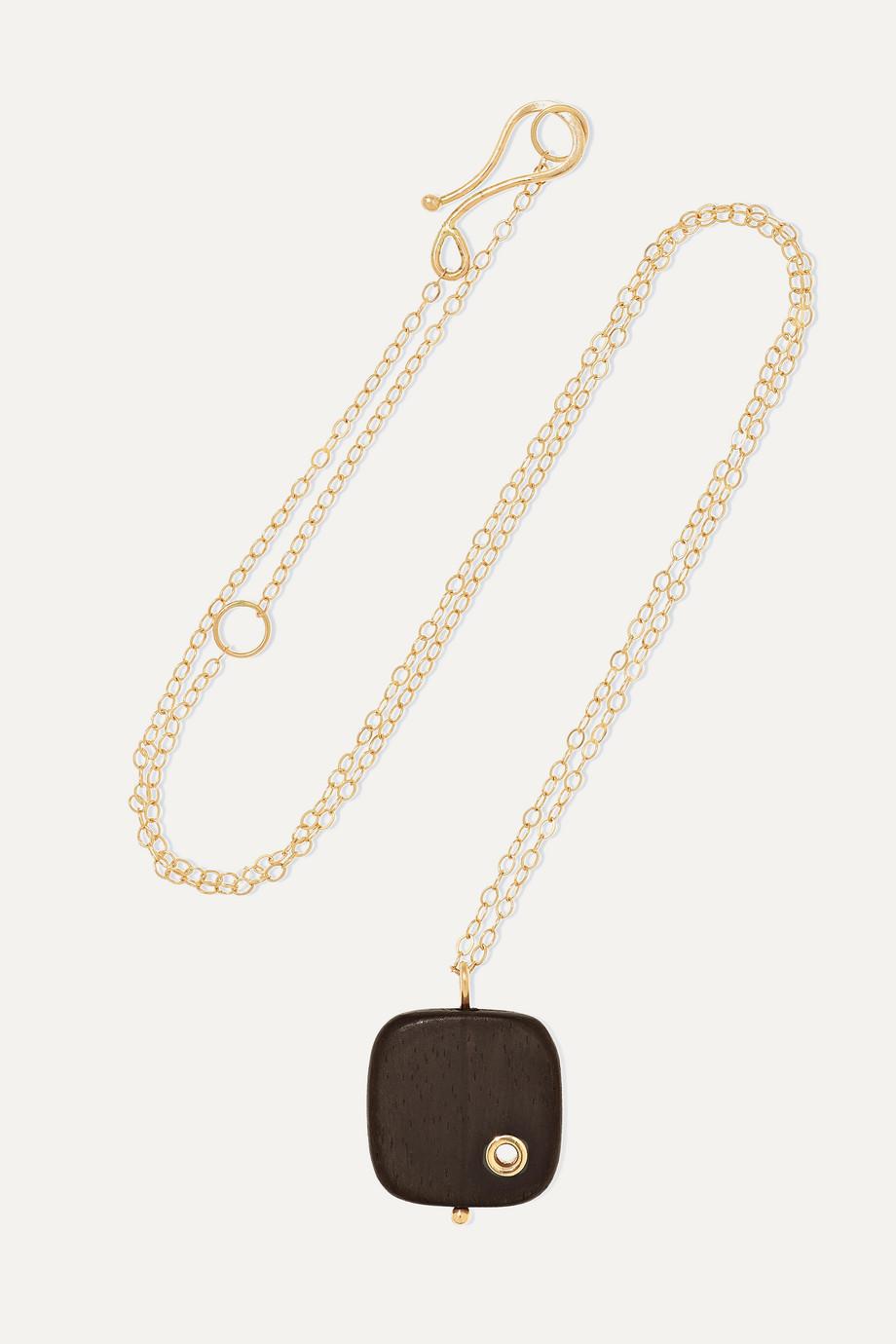 Melissa Joy Manning 14-karat gold ebony necklace