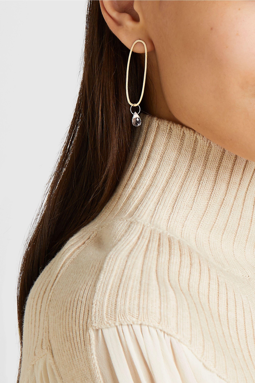 Melissa Joy Manning 14-karat gold topaz earrings