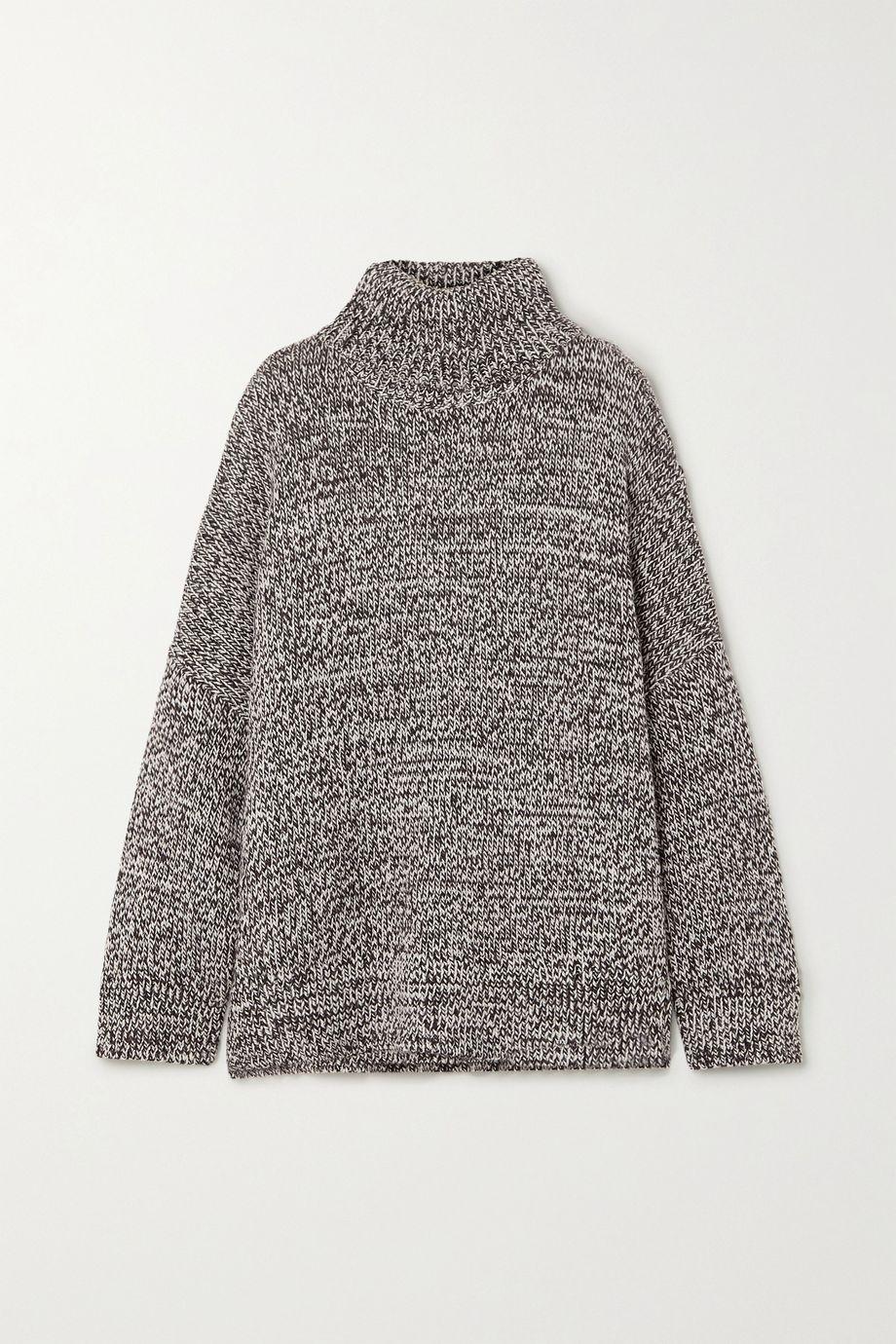 Co Oversized mélange merino wool turtleneck sweater