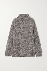 Co Oversized mélange merino wool turtleneck sweater