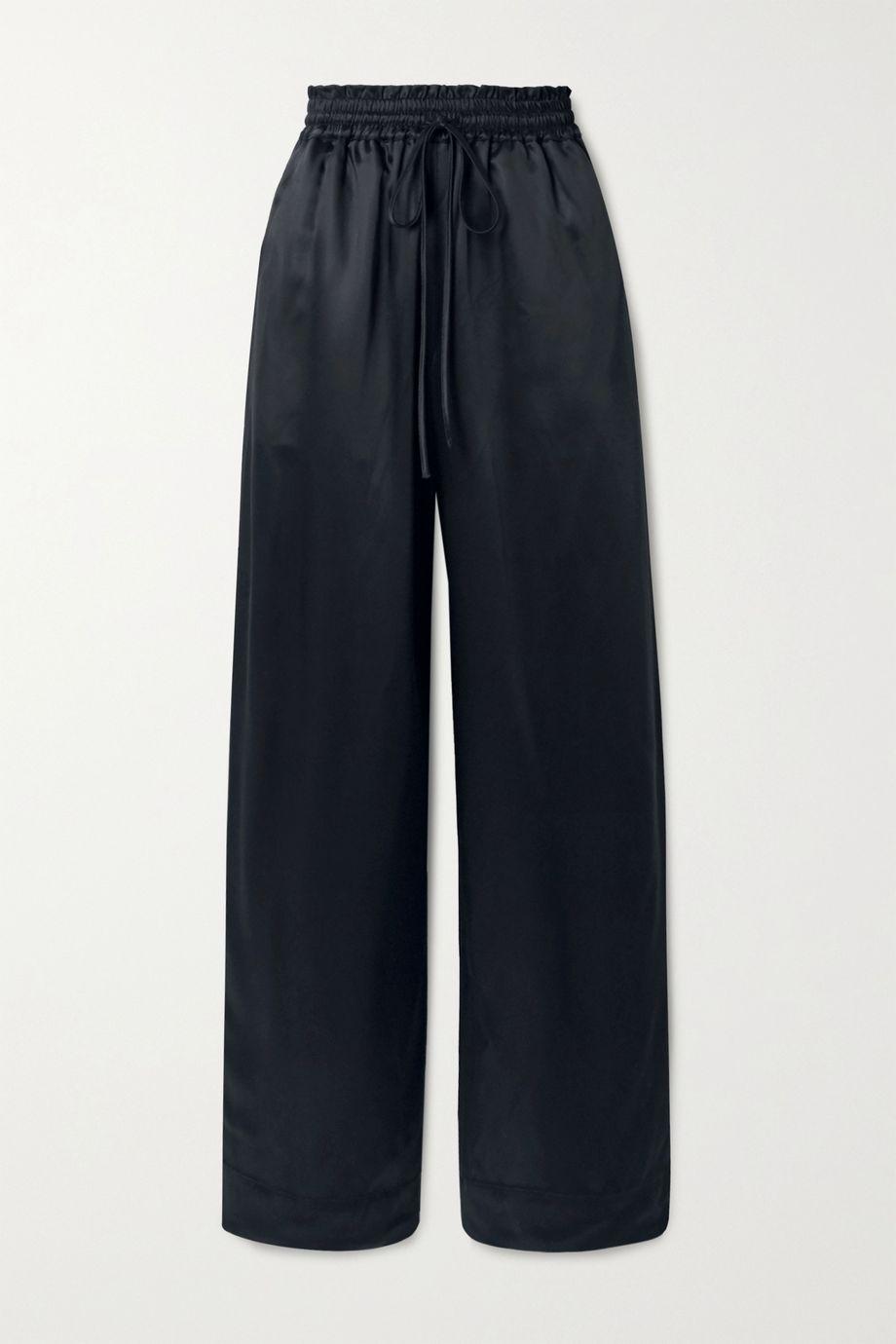 Co Duchesse-satin wide-leg pants