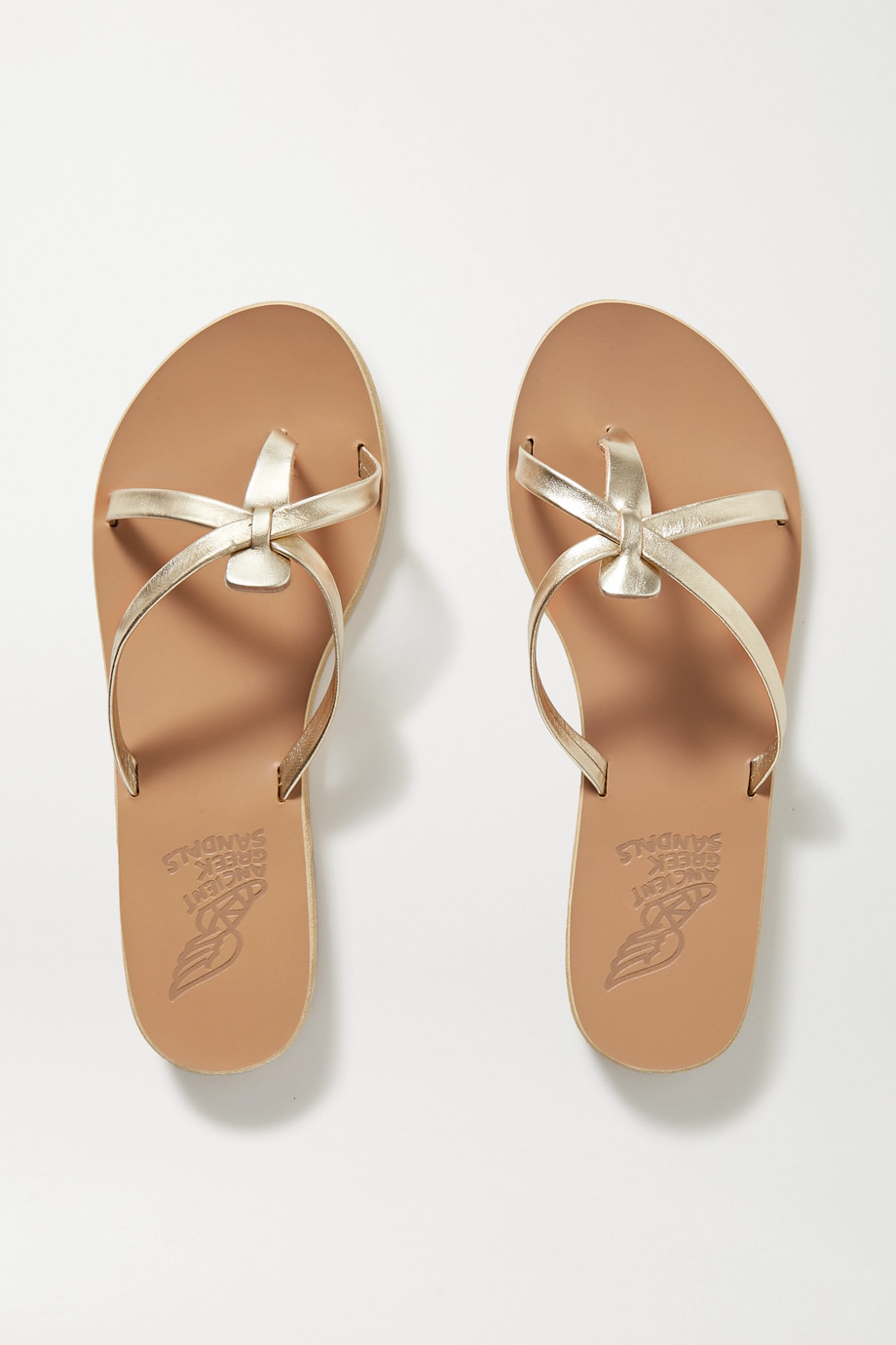 Ancient Greek Sandals Orea metallic leather sandals
