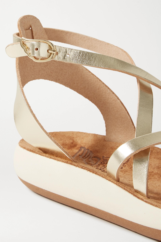 Ancient Greek Sandals Delia metallic leather sandals