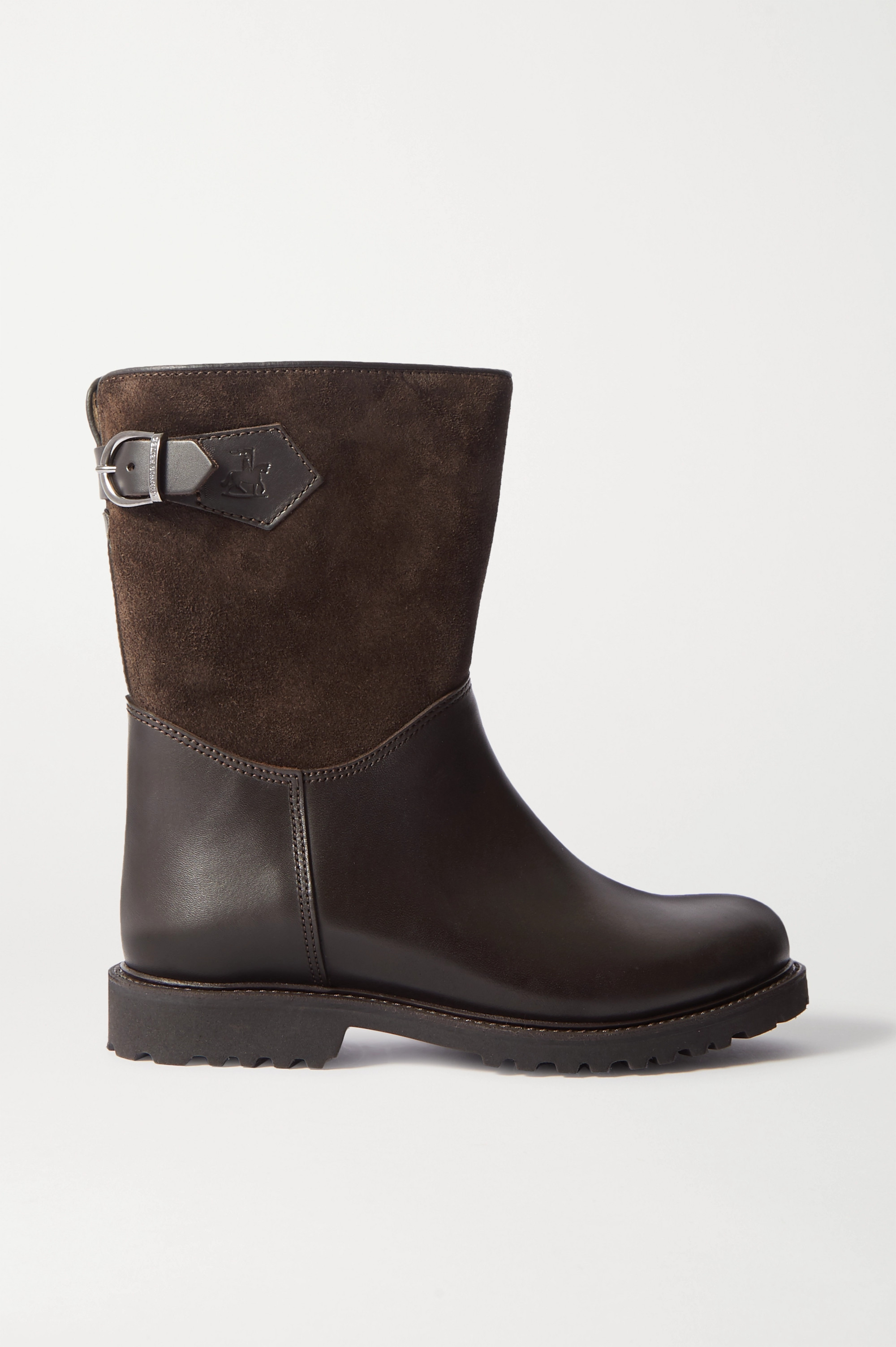 Ludwig Reiter Sennerin shearling-lined leather and suede ankle boots