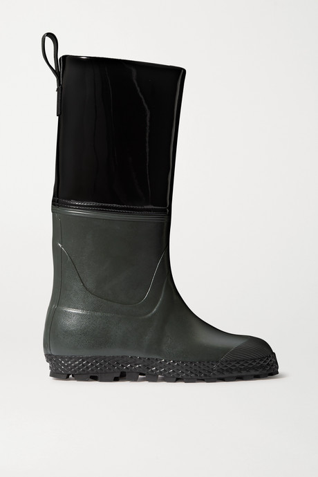 Black Gardener rubber and patent-leather rain boots | Ludwig Reiter HTVmpn
