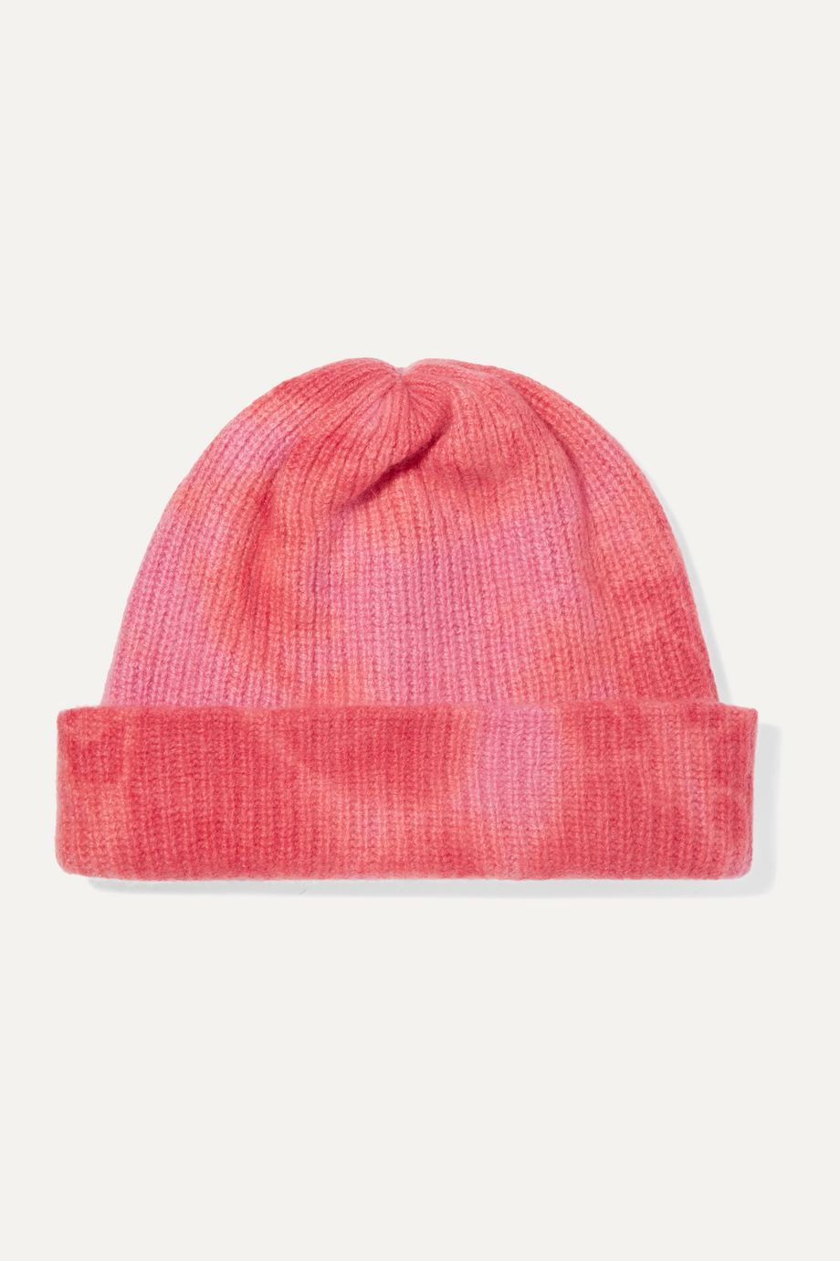 The Elder Statesman Tie-dyed ribbed cashmere beanie