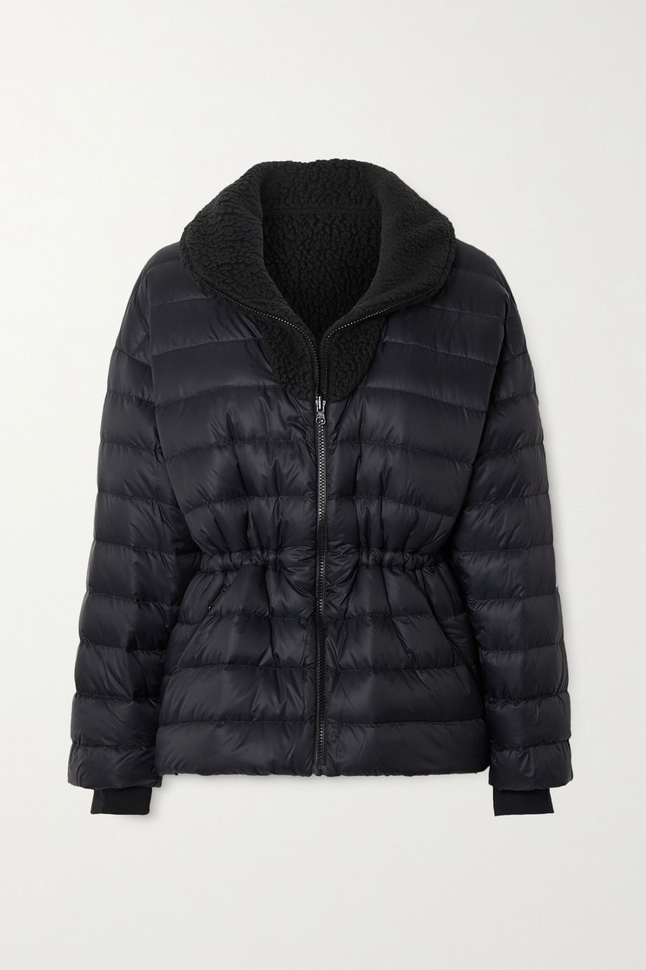 IENKI IENKI Polar reversible quilted down and shearling ski jacket