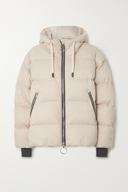 Dunno hooded quilted down ski jacket