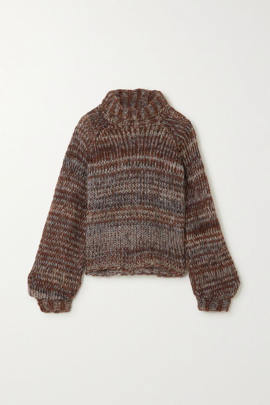 The Range Fog knitted turtleneck sweater