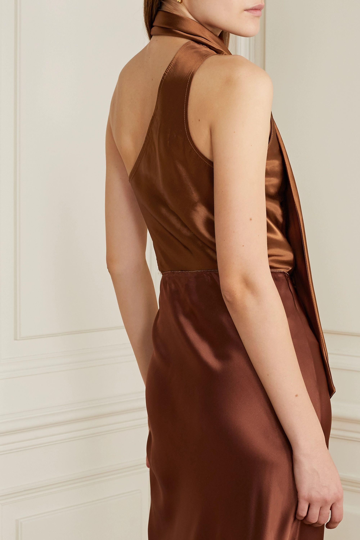 The Range Convertible one-shoulder satin top