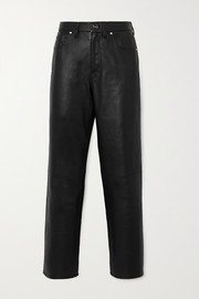 + NET SUSTAIN The Relaxed Straight cropped leather pants